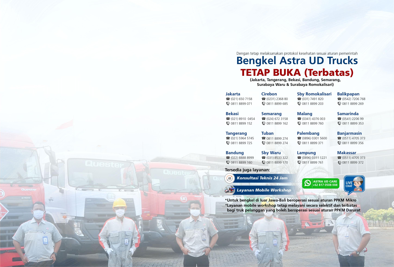 Bengkel Astra UD Trucks TETAP BUKA (Terbatas)